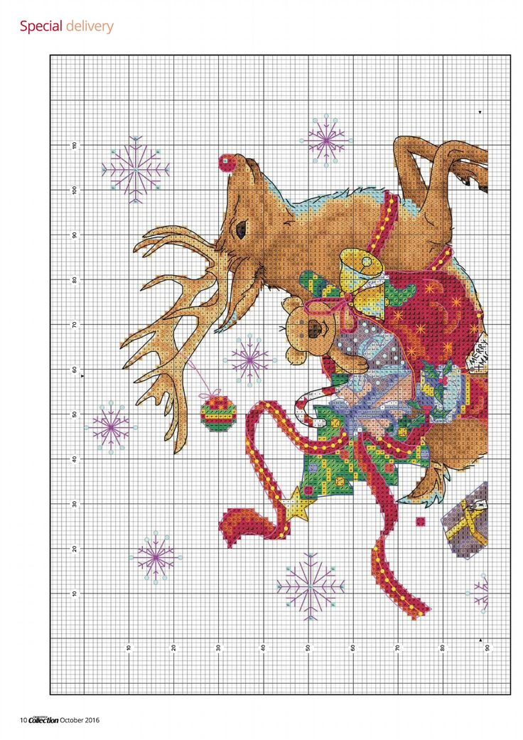 3 of 5 Special Delivery From Cross Stitch Collection N°267 October 2016