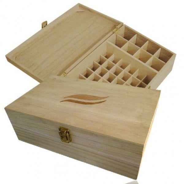 Coffret de rangement en bois FSC Aromathérapie Maxi pour 50 flacons