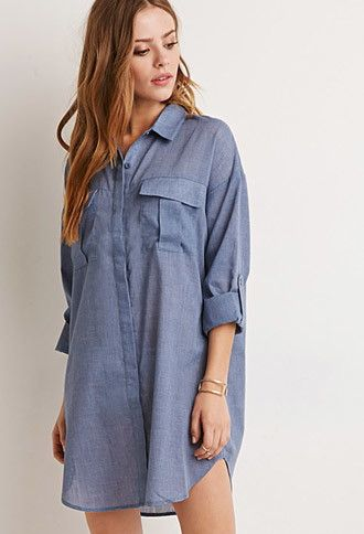 Denim is big this Fall and this Denim Shirt Dress from Forever21 looks soooo comfy to boot!