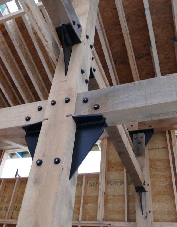 Custom Steel Connectors Designed For Heavy Timber Frame In
