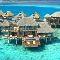 Hilton Nui Resort in Bora Bora. a girl can dream. just google how much this resort costs.. yes i've looked.