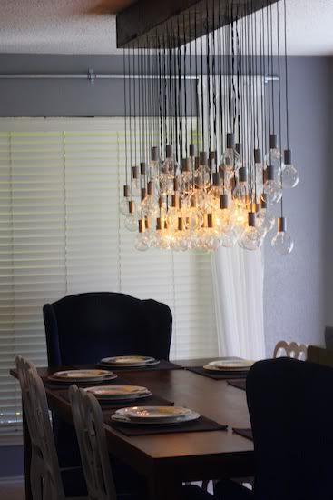 diy dining room light i 39 m a diy wanna be pinterest. Black Bedroom Furniture Sets. Home Design Ideas
