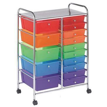 15 drawer storage cart 1