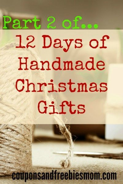 Handmade Christmas Gifts (Part 2): 12 Simple Homemade Holiday Presents: Part 2! 12 MORE EASY and inexpensive DIY gifts that are perfect for this holiday season! This is part 2, featuring 12 MORE Handmade Gifts! Don't spend a fortune on Christmas gifts! Check out these beautiful, fun, and easy homemade gift ideas right now!