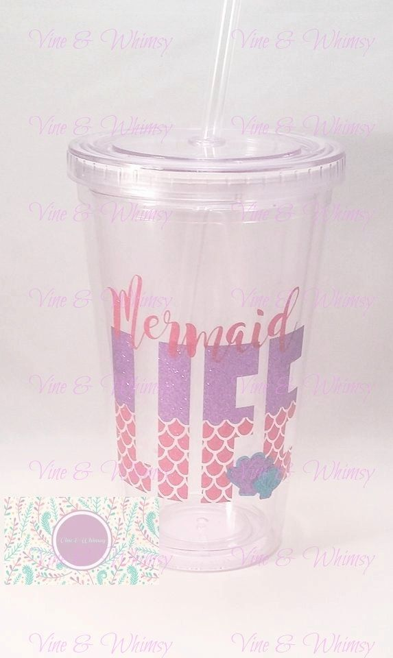 Clear Acrylic Tumbler, personalized double wall tumbler, Plastic cup, monogram, custom decal, Gift for kids, Name, Initial, 16 oz BPA free