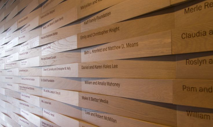 The donor wall also appears to be woven of wood slats.