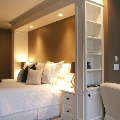 Love the built in lights ... Bedroom Photos Built In Beds Design, Pictures.  Headboards With StorageHeadboard ShelvesDiy ...