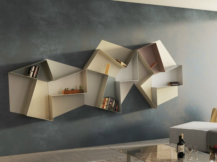 Open wall-mounted #bookcase SLIDE | @lagofurniture
