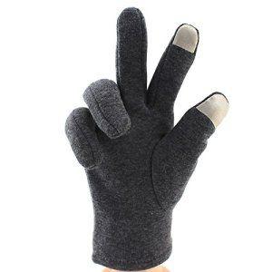 L'équitation de vélo pour hommes chauds gants gants écran tactile,Black