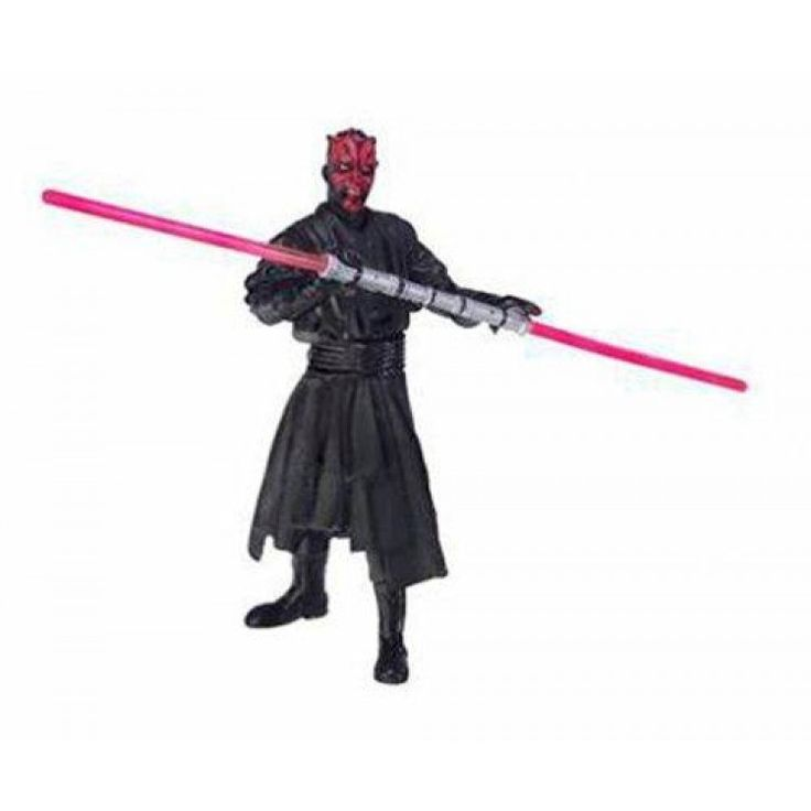 """2004 Star Wars Gold Saga : Darth Maul  Darth Maul Theed Hangar Duel Star Wars Saga #Action #Figure!  Features : #Hasbro #StarWars Line *3 3/4 Figure (1/6 scale) """" Product dimensions : 0.2x8.8x4.9 inches Product weight : 0.25 pounds"""