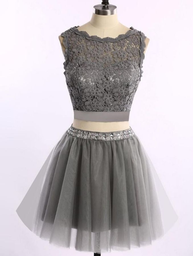 Homecoming Dresses, Sexy Dresses, Lace Dresses, Sexy Lace Dresses, Grey Dresses, Sexy Homecoming Dresses, Lace Homecoming Dresses