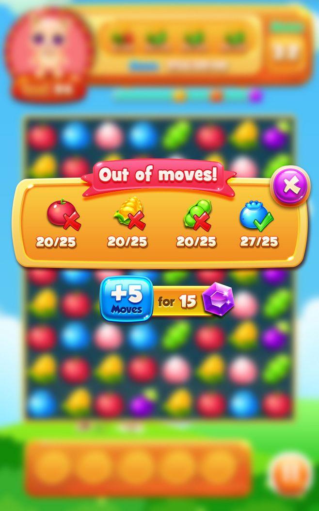 Оригинальные произведения: [Отделка] фрукты устранить игровой интерфейс UI ...