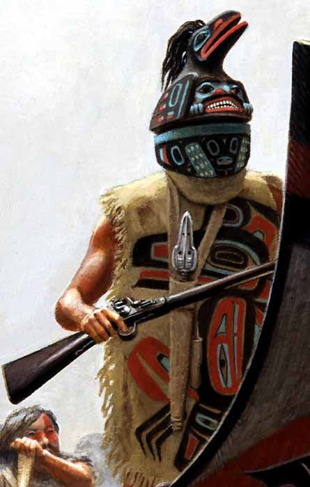 Tlingit or Haida warrior