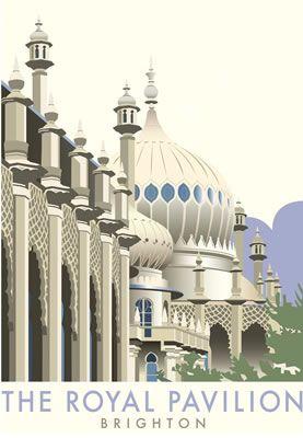 Brighton Pavilion. By Illustrator Dave Thompson wholesale fine art print