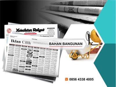 Pasang iklan baris Bahan Bangunan di koran Kedaulatan Rakyat Jogja, Kirim Materi Iklan ke 085643384005 (SMS/WA)