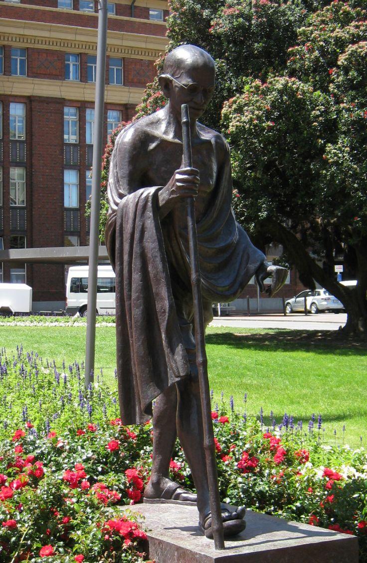 Mahatma Gandhi Statue, Wellington Railway Station. New Zealand