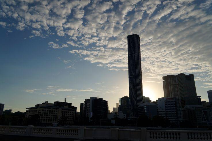 Brisbane city skyline, June 2016.