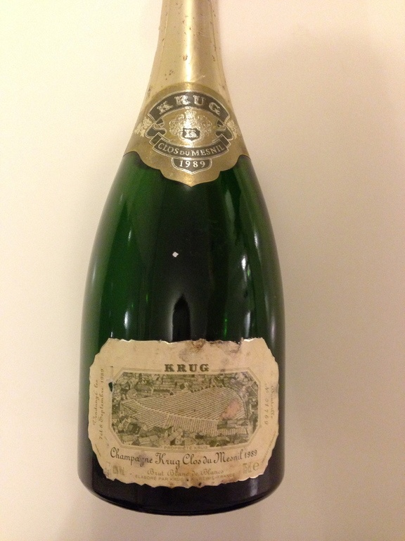 clos du Mesnil 1989 excellent et trés cher  one of the most expensive champagne in the wolrd