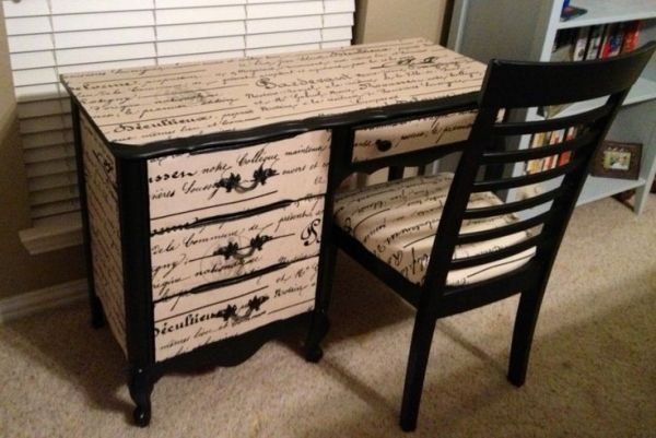 Mod Podge Fabric Amp Paint New Desk And Chair By Brandy Desk Makeover Pinterest