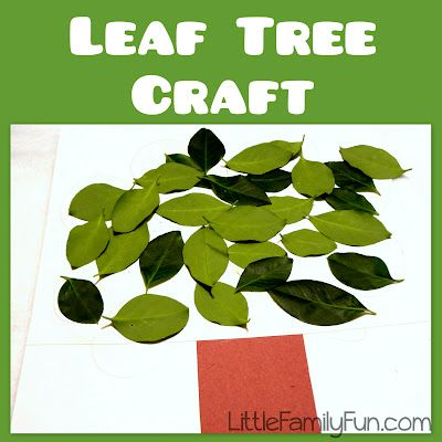 Craft a Tree with real leaves! Fun nature craft for kids.