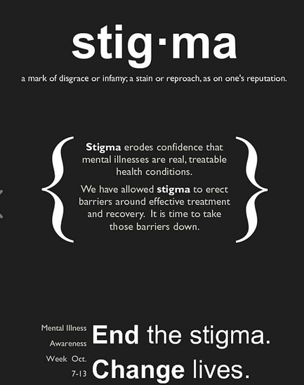 STIGMA erodes confidence that mental illnesses are real, treatable health conditions. We have allowed stigma to erect barriers around effective treatment and recovery. It is time to take those barriers down!