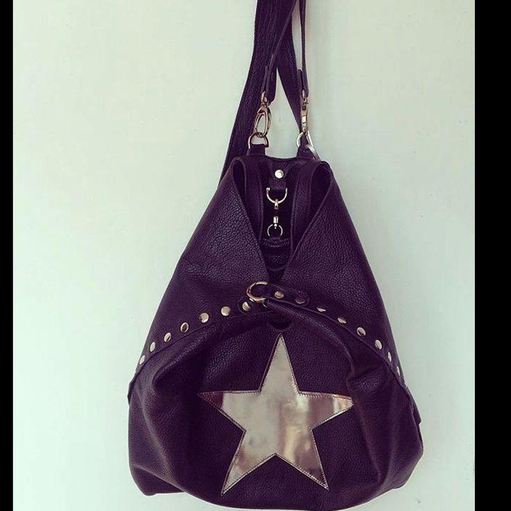 Zaino Bag #leather #star #illovebag #rocknroll #madeinitaly