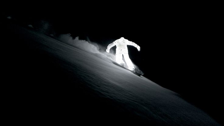 Jacob Sutton, A Guy Snowboarding In An LED Body Suit