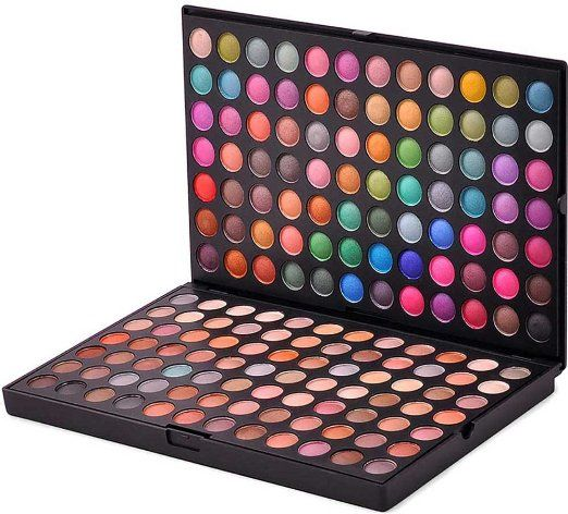 BLINK BEAUTY Professional Neutral and Shimmer 168 Color Eyeshadow Makeup Cosmetic Palette Eye Shadow