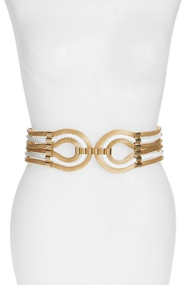 Raina 'Large Spago' Stretch Belt