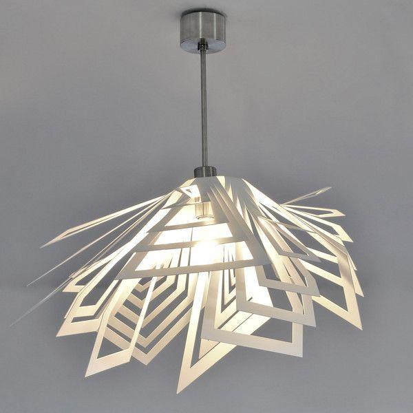 LAMPA nowoczesna niezwykly design FUJI - Archerlamps - Lampy wiszące #lamp #hanginglamp #pendantlamp #pendant #ceilinglamp #steellamps #stainlesssteel #designerlights #homedecor #interiordesign ##homelighting #modernlights #silverlamp #modernlamp #whitelamp