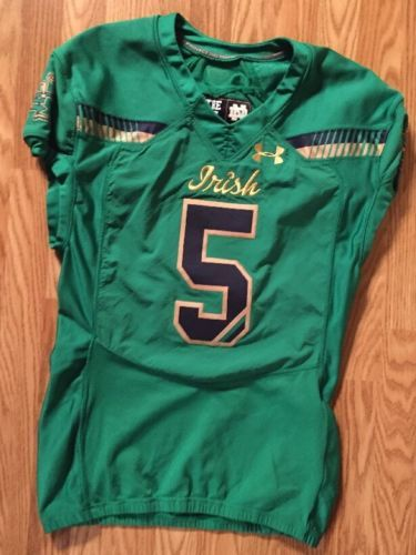 Notre-Dame-Football-2015-Shamrock-Series-Boston-Game-Used-Jersey-5