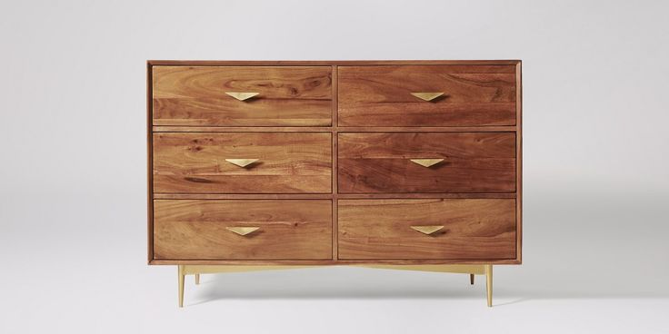 Volterra Acacia Large Chest Of Drawers | Swoon Editions
