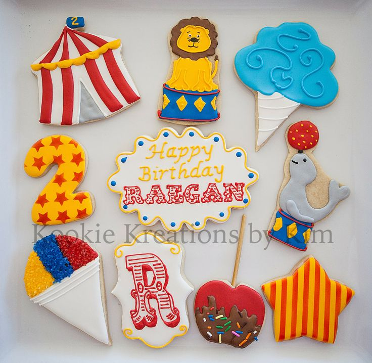 Kookie Kreations by Kim ~ Circus Themed Birthday Party Cookies