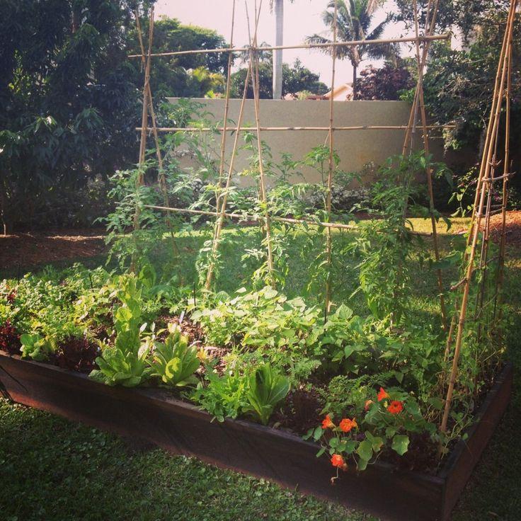 Garden, : Astounding Garden Decoration And Backyard Decoration With Beam  Hang Raised Bed Garden And