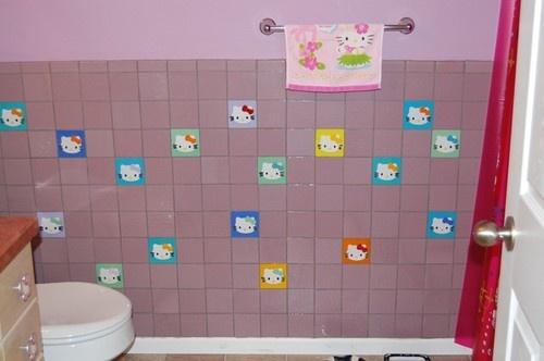 Hello Kitty Tile modern