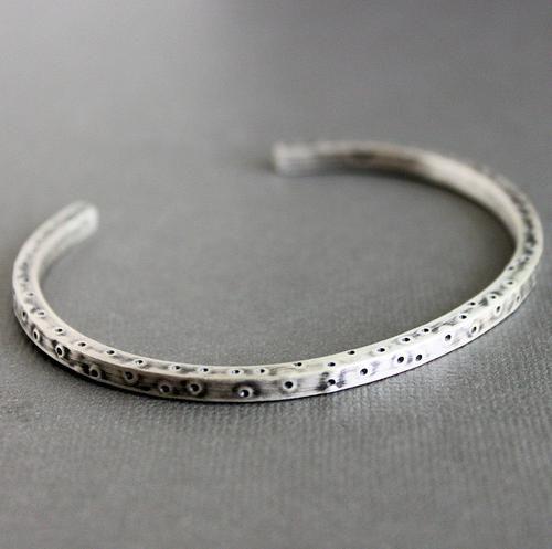 s silver cuff bracelets mens sterling silver rustic