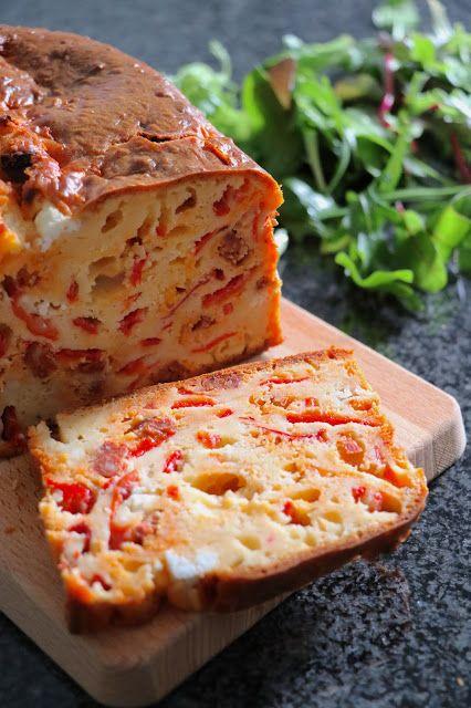 The Cook Time: Cake au chorizo, poivrons grillés et chèvre frais