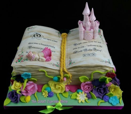Fairytale book cakes | Fairy Tale Story Book for Baby Shower - Cake by TheGiantCupcakeShop ...