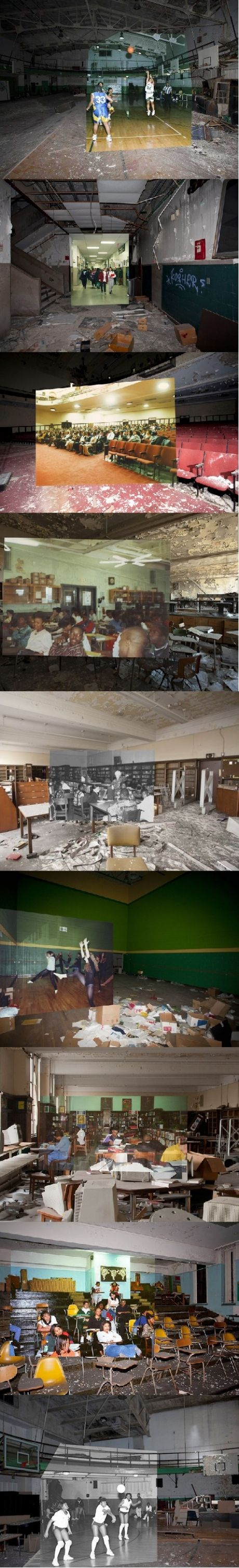 Detroit before and after.