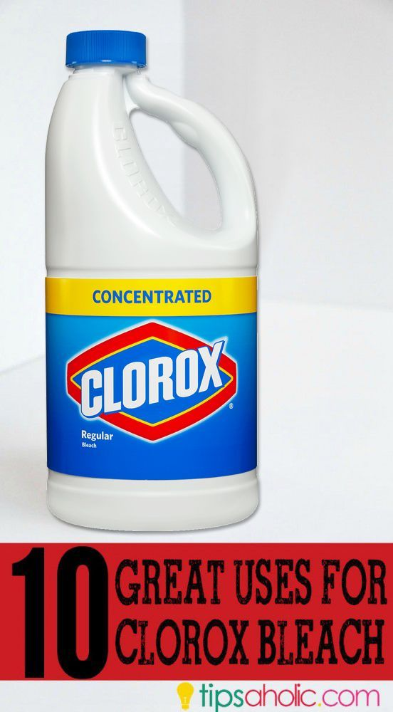 Did you know there are lots of uses for bleach besides laundry??? Check out these other great ideas for clorox! #bleach #clorox