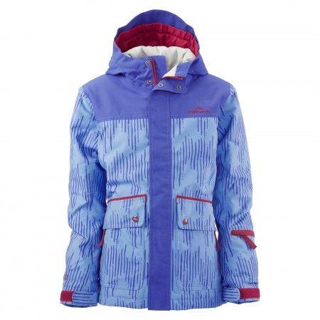 Poma Extendable Sleeve Jacket Girls - Bright Blue/Plum