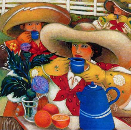 Chuck Wagon Coffee ~ Linda Carter Holman Paintings.  I have this print in my kitchen.