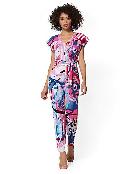 97225801c63 Graffiti Print Utility Jumpsuit - New York   Company