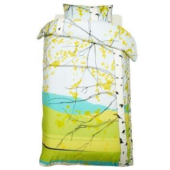 Kaiku pussilakana ja tyynyliina        Valmistaja: Marimekko      Design: Maija Louekari