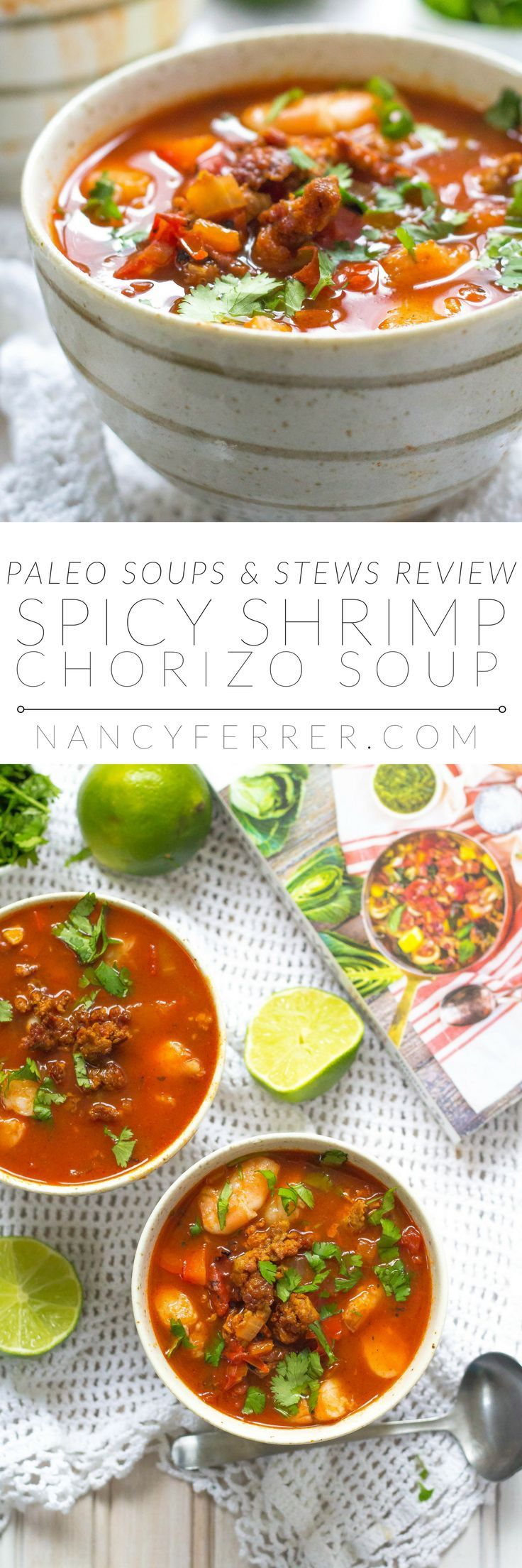 Spicy Shrimp and Chorizo Soup | http://nancyferrer.com/spicy-shrimp-chorizo-soup/