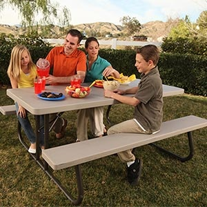 We Just Bought This For Our Back Yard/Lifetime 6u0027 Folding Picnic Table With