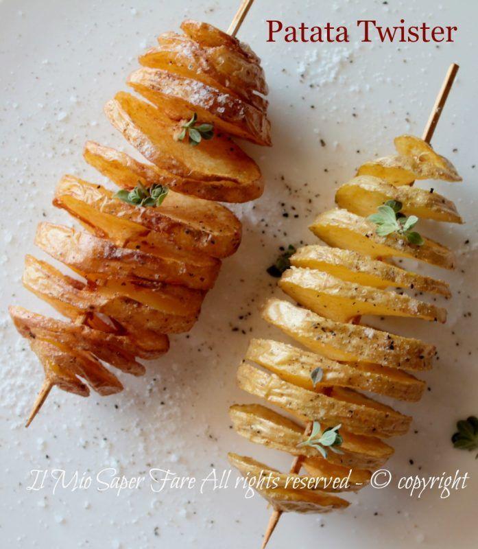 Patata Twister o patata a spirale da fare in casa senza l'attrezzo adatto. Sono…