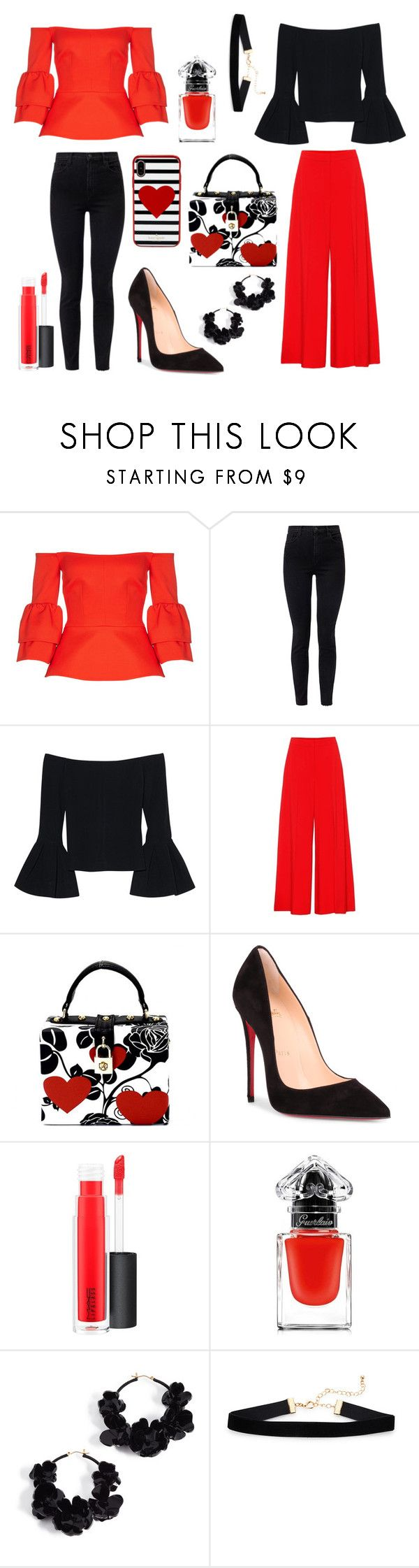 """Outfit for two days"" by forgetrules ❤ liked on Polyvore featuring Safiyaa, J Brand, Alexis, STELLA McCARTNEY, Christian Louboutin, MAC Cosmetics, Guerlain, Oscar de la Renta and Kate Spade"