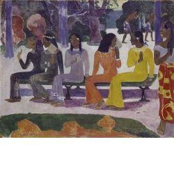 The market 1892 Gauguin Oil on jute Kunst