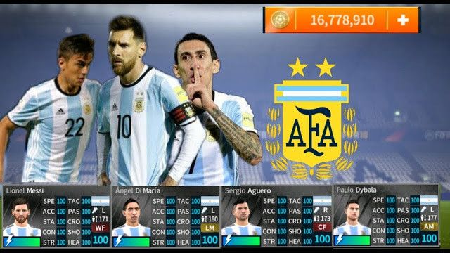 Profile Dat For Argentina Team Dream League Soccer 2019 Free In 2020 Argentina Team Downloading Data Argentina National Team